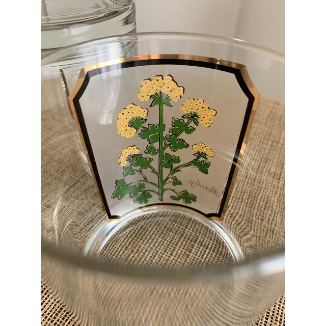 Green 1950s Vintage Culver 'Thyme & Parsley' Old Fashion Glasses - a Pair For Sale - Image 8 of 12