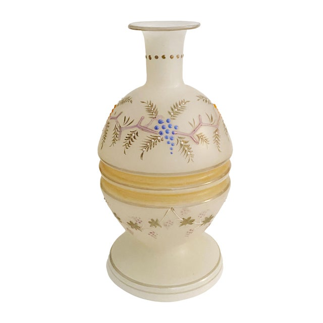 Glass Victorian Opaline Vase For Sale - Image 7 of 7