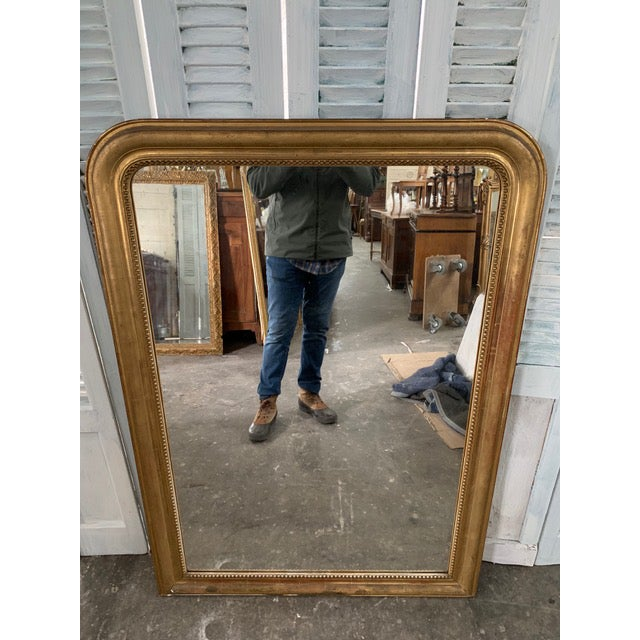 Mid 18th Century 19th Century Grand Louis Philippe Mirror For Sale - Image 5 of 10