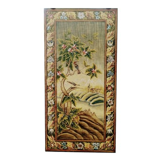Vintage Chinoiserie Birds Painted Wood Wall Art by Sarried Ltd For Sale