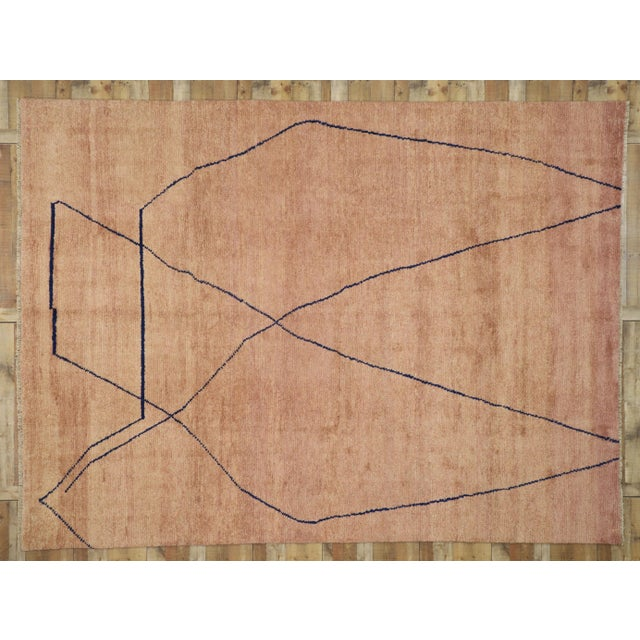 Rose Moroccan Contemporary Rug - 10'00 X 13'06 For Sale - Image 8 of 10