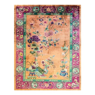 "Art Deco Chinese Oriental Rug-8'8"" X 11'5"" For Sale"