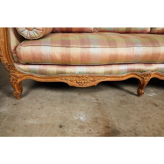 20th Century Louis XV Style Carved Wood Sofa or Daybed For Sale - Image 9 of 13