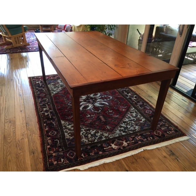 Reclaimed Wood Farm Table - Image 4 of 9