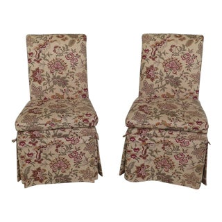Tufted Upholstered Host & Hostess Chairs - a Pair For Sale