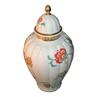 Thomas Bavaria Antique Porcelain Floral & Gold Urn For Sale