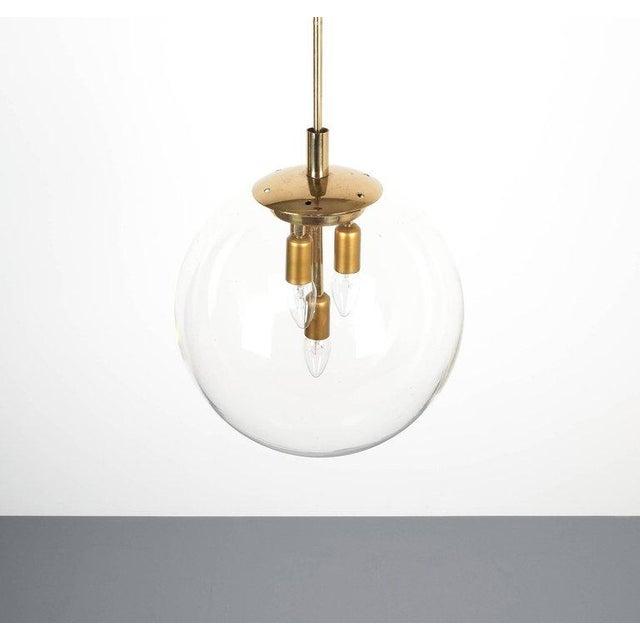 Superb doria globe pendant lamps large pair of brass clear glass doria globe pendant lamps large pair of brass clear glass lights germany 1970 aloadofball Gallery