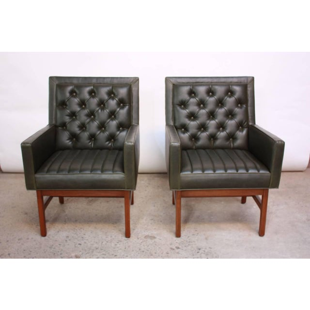 Pair of Milo Baughman for Thayer Coggin Walnut Armchairs - Image 3 of 9