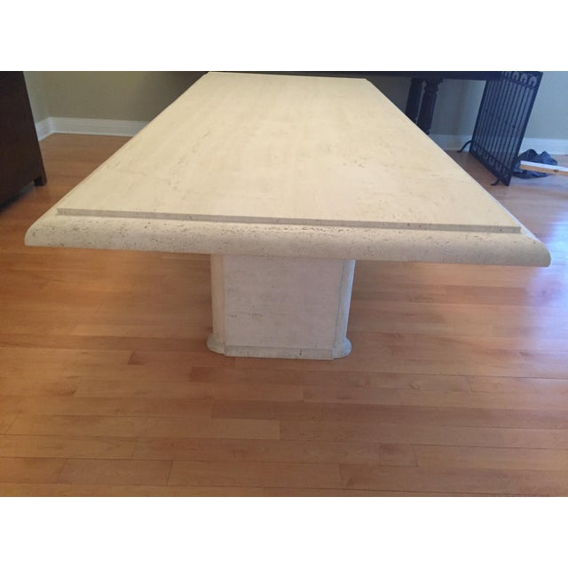 Solid Travertine Dining Table - Perfect and Incredible - Image 6 of 11