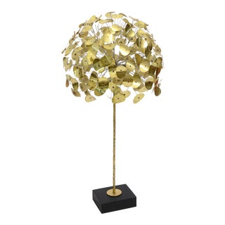 Oversize Dandelion Sculpture In Brass By Jere For Sale