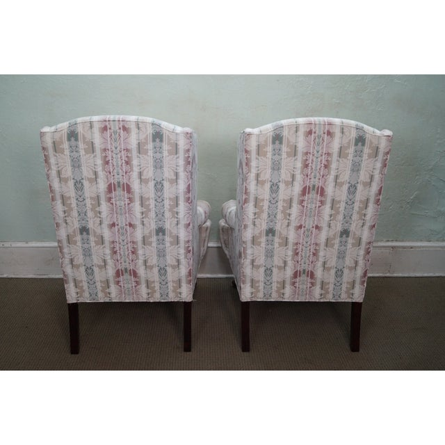 Thomasville Thomasville Traditional Queen Anne Wing Chairs - 2 For Sale - Image 4 of 10