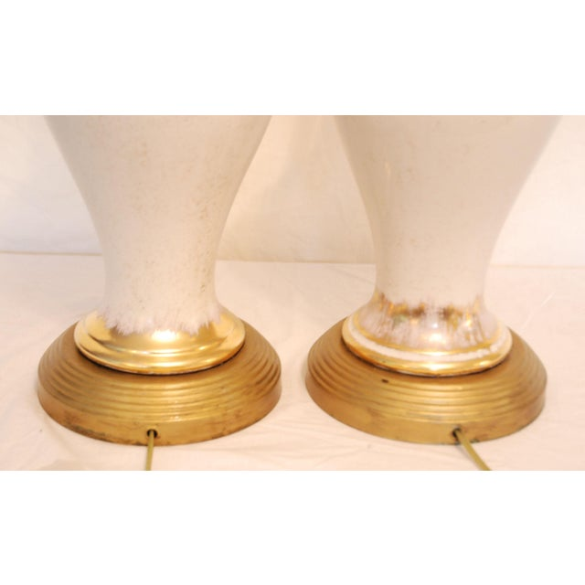 Vintage Dogwood Table Lamps - a Pair - Image 6 of 7