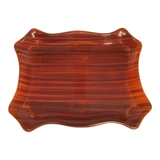 Mid Century Faux Bois Tray For Sale
