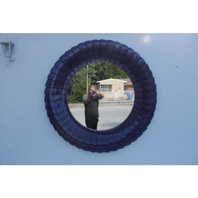 Sunburst Purple Wall Mirror - Image 2 of 11