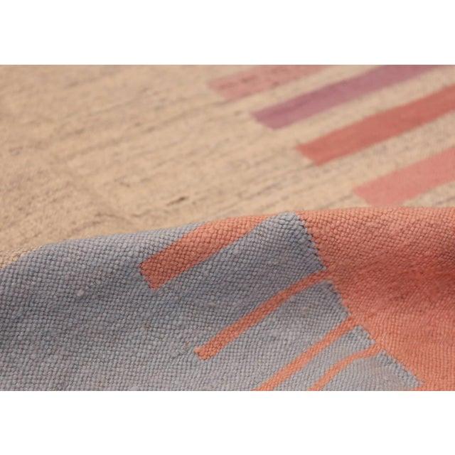 Breathtaking flat-woven Vintage Scandinavian Swedish Kilim rug, Country of Origin / rug Type: Scandinavia, circa Date:...
