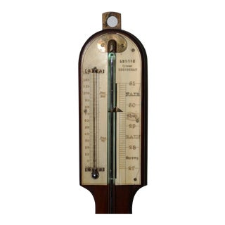 19th Century Mahogany Long Case Barometer For Sale