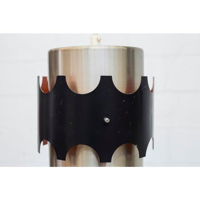 Hoogersvort Style Spun Aluminum & Black Cylinder Pendants - Set of 3 - Image 5 of 6