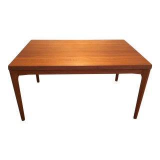 1960s Vintage Danish Modern Vejle Stole Møbelfabrik Teak Dining Table & 2 Leaves For Sale