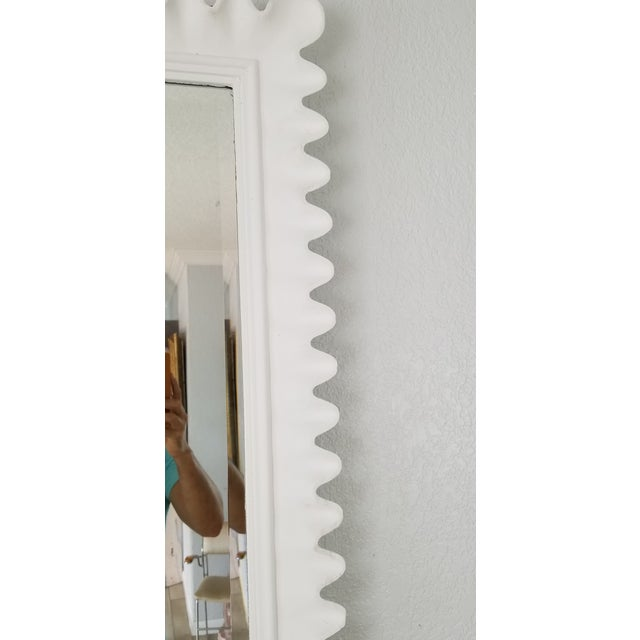 1970s Marge Carson Scalloped Wall Mirror . For Sale - Image 5 of 9
