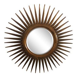 Modern Round Sunburst Mirror For Sale
