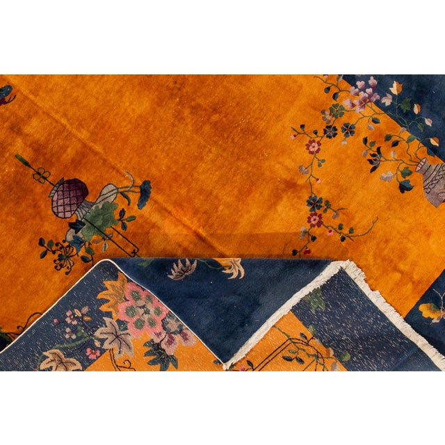 "Art Deco Apadana-Antique Chinese Rug, 8'10"" X 11'10"" For Sale - Image 3 of 10"