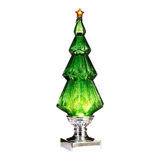 Kenneth Ludwig Chicago Green Swirling Glitter Led Tree For Sale