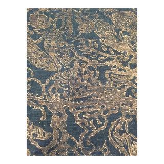 Rose Cummings Metallic Bird Fabric -1 Yard