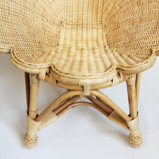 Rattan Natural Shell Chair For Sale - Image 4 of 6