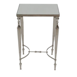 Cakra Accent Side Table With Mirrored Top For Sale