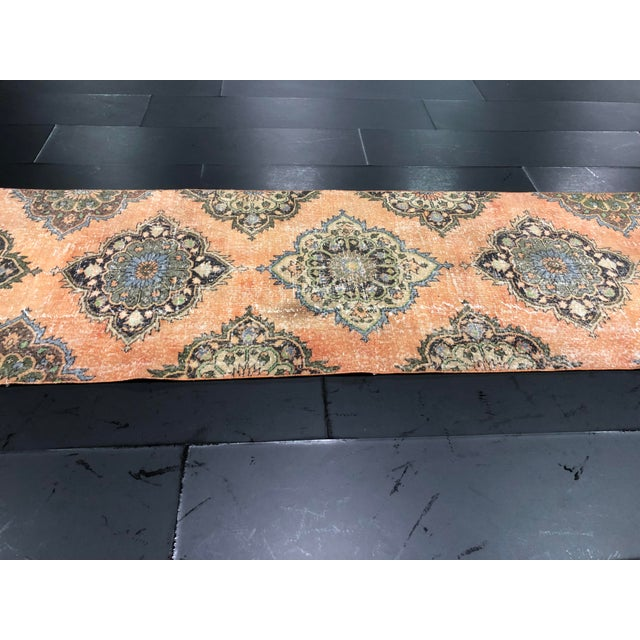 What Makes Turkish Rugs Great How You Can Read The Design Of A Turkish Rug: Vintage Turkish Oushak Handmade Orange Faded Runner Rug