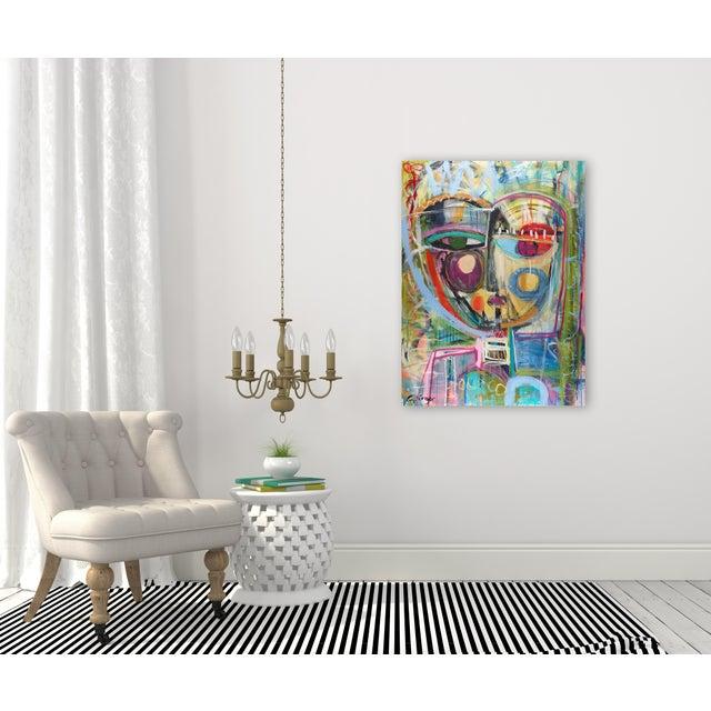 "Acrylic Paint ""Honey"" Original Mixed Media Artwork by Lesley Grainger For Sale - Image 7 of 8"