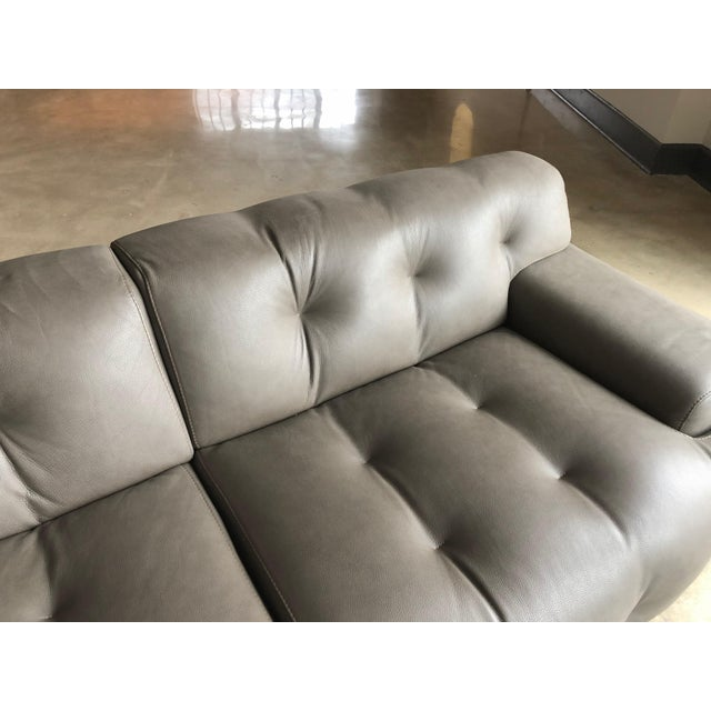 Like new Roche Bobois Blogger Sofa. designed by Roberto Tapinassi and Maurizio Manzoni. Upholstered in Opus leather....