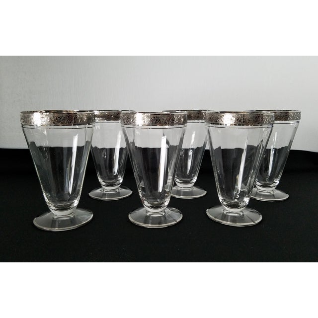 Silver Embossed Dessert Glasses – Set of 6 For Sale In Raleigh - Image 6 of 11