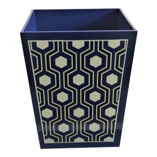 Bungalow 5 Sasoon Waste Bin in Navy Blue For Sale
