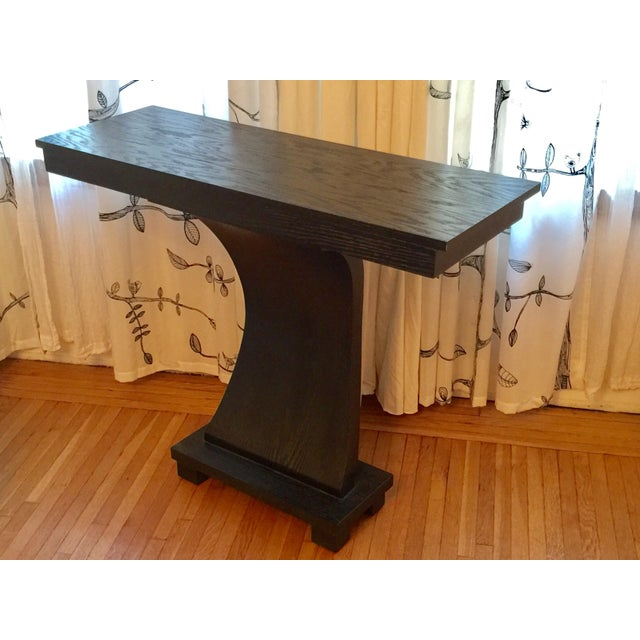 Stained Wood Console For Sale - Image 4 of 6