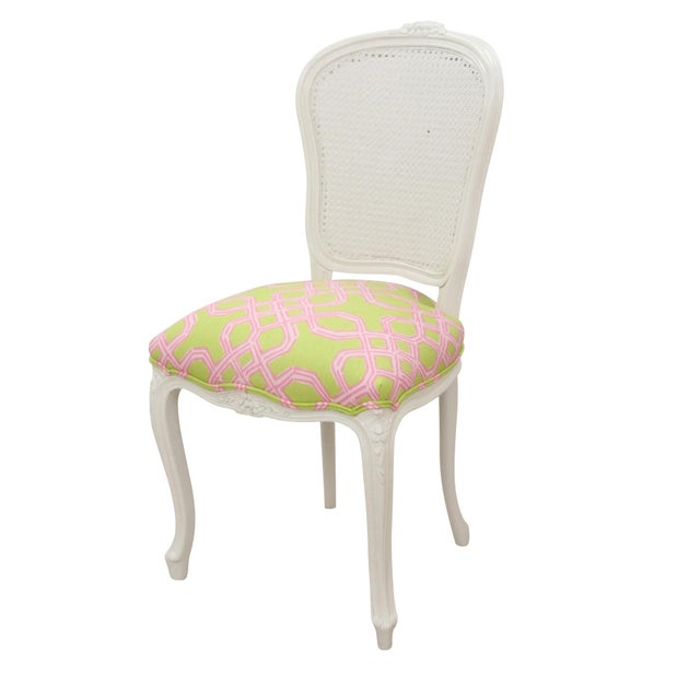 Louis XV Cane Back Accent Chair - Image 2 of 6
