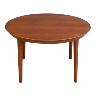 Round or Oval Midcentury Dining Table in Teak by Ole Hald for Gudme Møbelfabrik