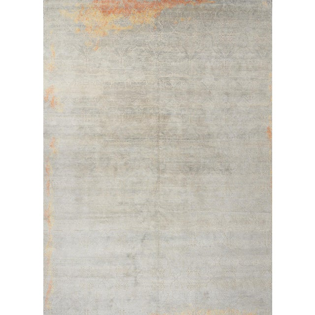 Gray Schumacher Sakura Hand-Knotted Area Rug in Wool Silk, Patterson Flynn Martin For Sale - Image 8 of 8