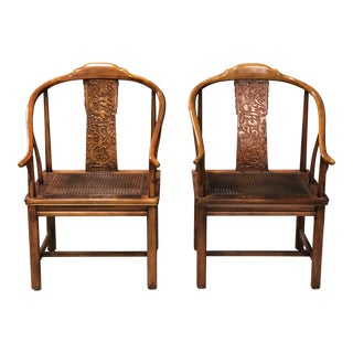 Pair of Vintage Henredon Horseshoe Chairs For Sale