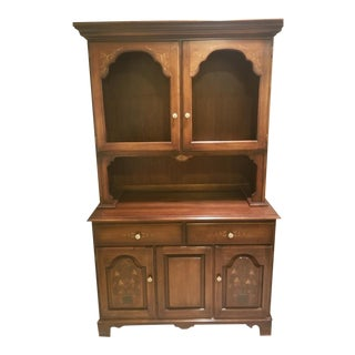 Hitchcock Hutch With Glass Front For Sale