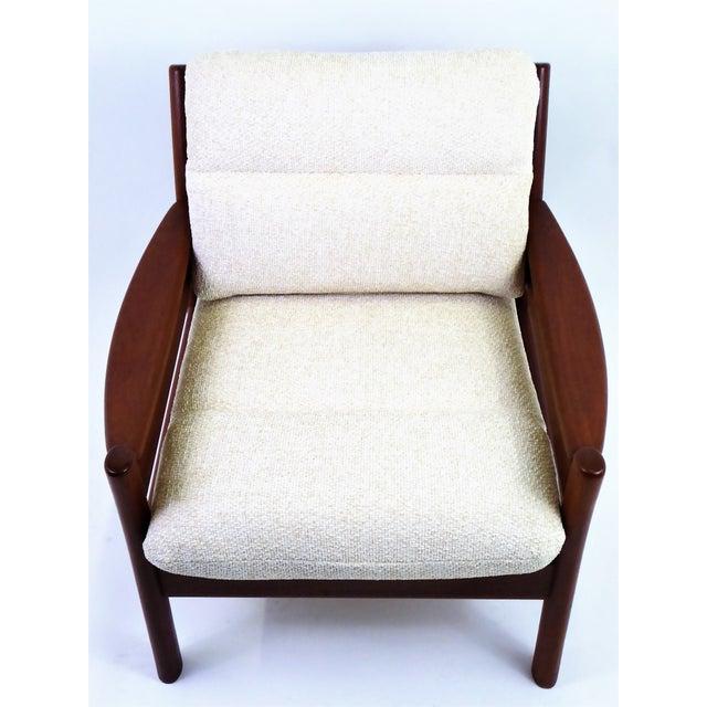 Fabric Dyrlund Lounge Teak Lounge Armchair, Denmark 1960s For Sale - Image 7 of 13