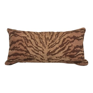 Kravet Bronze Tiger Chenille Lumbar Pillow