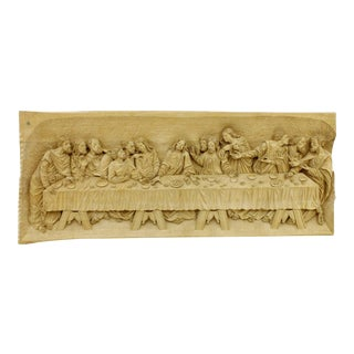 """""""The Last Supper"""" Wood Carving Relief Masterpiece by Emrich Mussner, 1976 For Sale"""