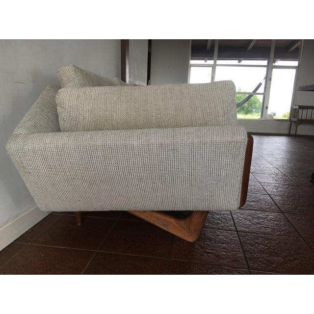 """Fabric """"Gondola"""" Sofa by Adrian Pearsall for Craft Associates For Sale - Image 7 of 11"""