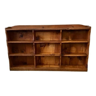 1950s Hunt Furniture Rustic Modern Low Bookshelf For Sale