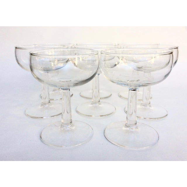 Vintage Glass Champagne Coupes - Set of 8 For Sale - Image 4 of 5