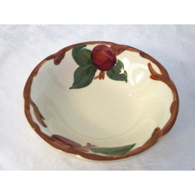 Ceramic Franciscan Apple Dinner Plates & Coupe Bowls - Set of 12 For Sale - Image 7 of 9