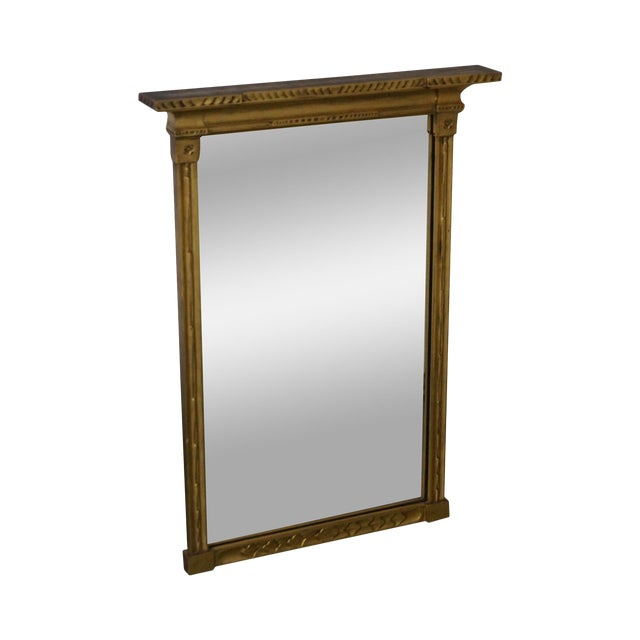 Antique Gilt Wood Impressionist Wall Mirror For Sale