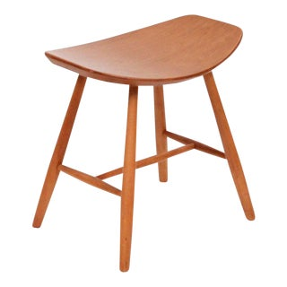 1960s Birch Stool by Ejvind Johansson for Fdb Møbler For Sale