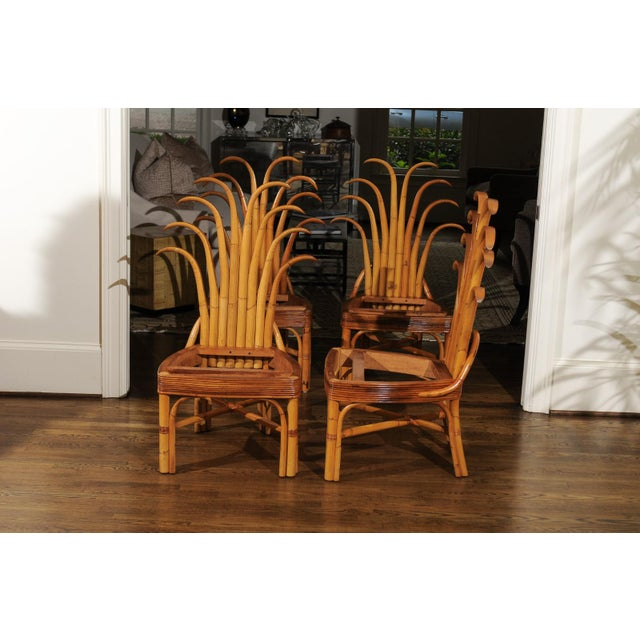 Jaw-Dropping Unique Pair of Custom-Made Palm Frond Chairs, circa 1950 For Sale - Image 11 of 13